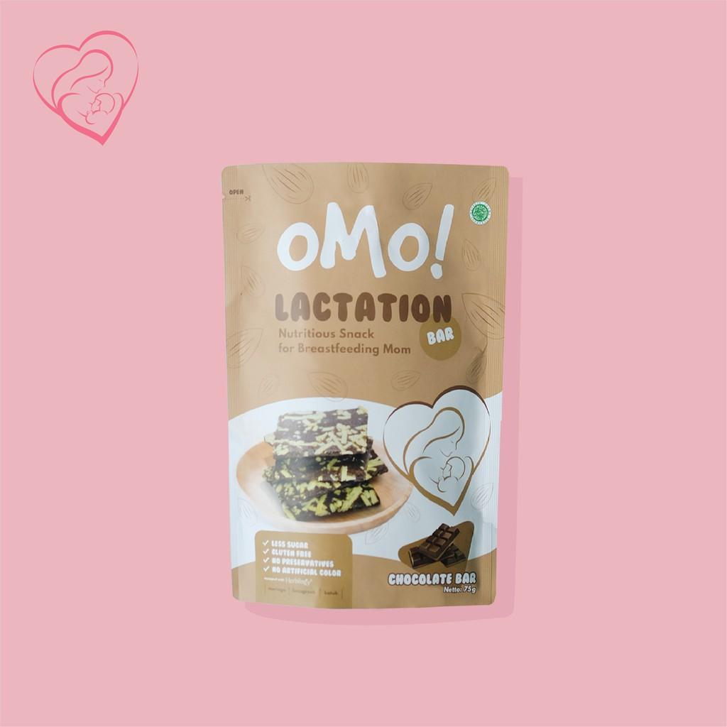 OMO! Lactation Chocolate Bar – Snack Sehat Ibu Menyusui – Ukuran Besar 75 gram