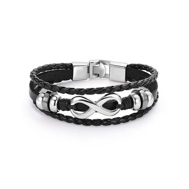 Baru LRC Gelang Tangan Black Grids Pattern Decorated Bracelet | Shopee Indonesia