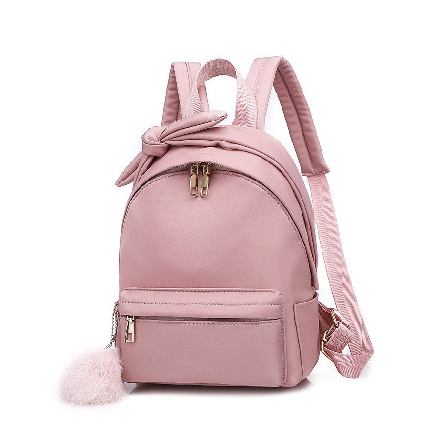 Tas Ransel Backpack Wanita Import Mini Cute Lucu Free Pom Pom 2219