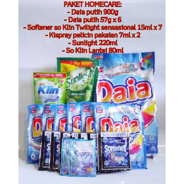 Paket Homecare Rinso Anti Noda Deterjen Shopee Indonesia