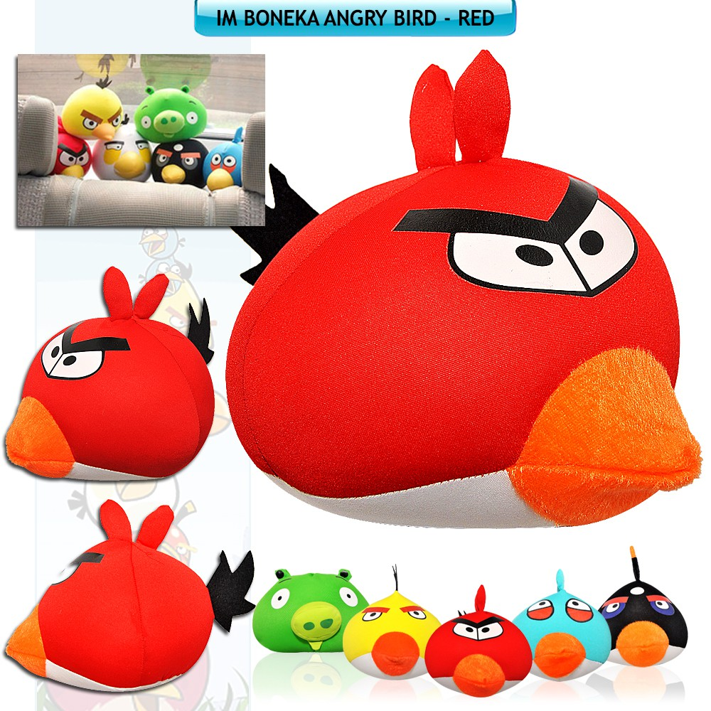 Boneka Hiasan Dashboard Mobil Angry Bird   Mainan Anak Angry Bird Doll  f16d4433e7