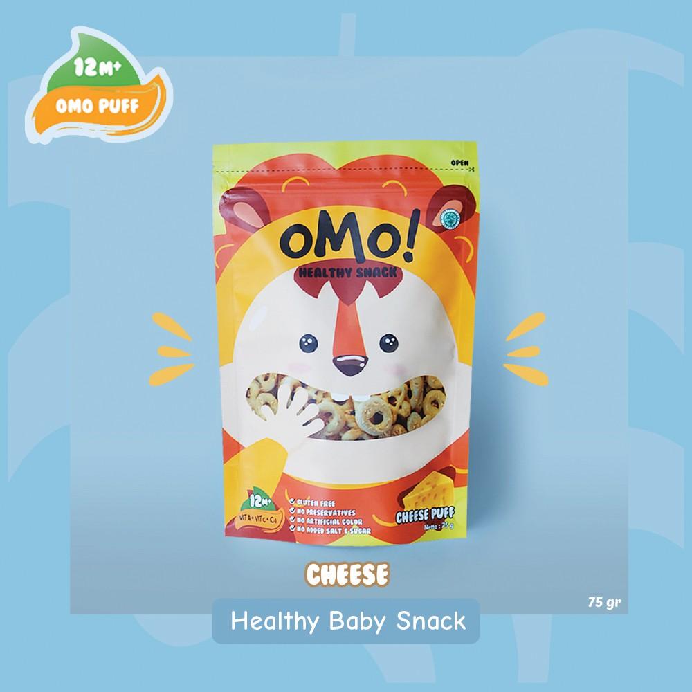 OMO! Puff Cheese – Ukuran Besar 75gram – Snack Sehat Bayi 1 Tahun