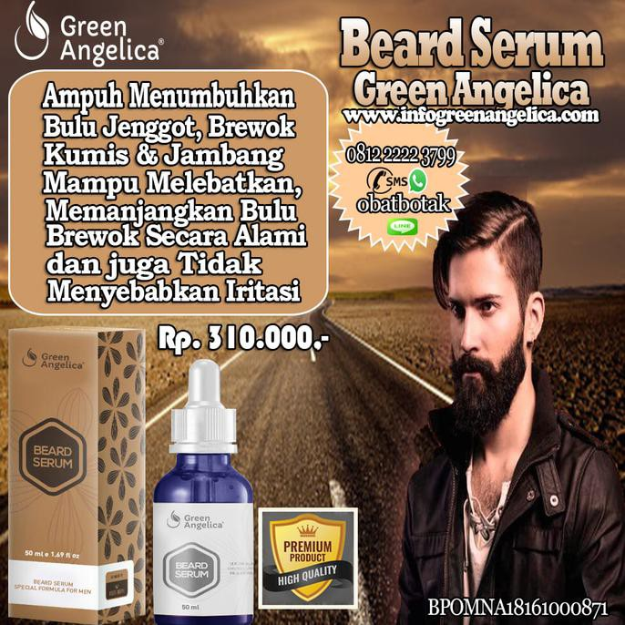 Beard Serum Green Angelica Penumbuh Jambang - Alis - Kumis - Jenggot | Shopee Indonesia
