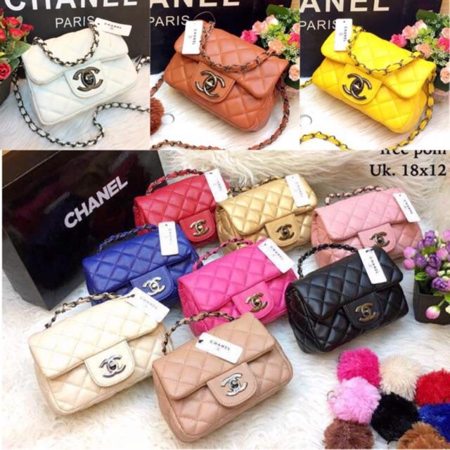 Tas Chanel Baby Sling Maxi Mini TERMURAH !! TERLENGKAP! (4PCS BISA 1 KG)  37afba7c5a