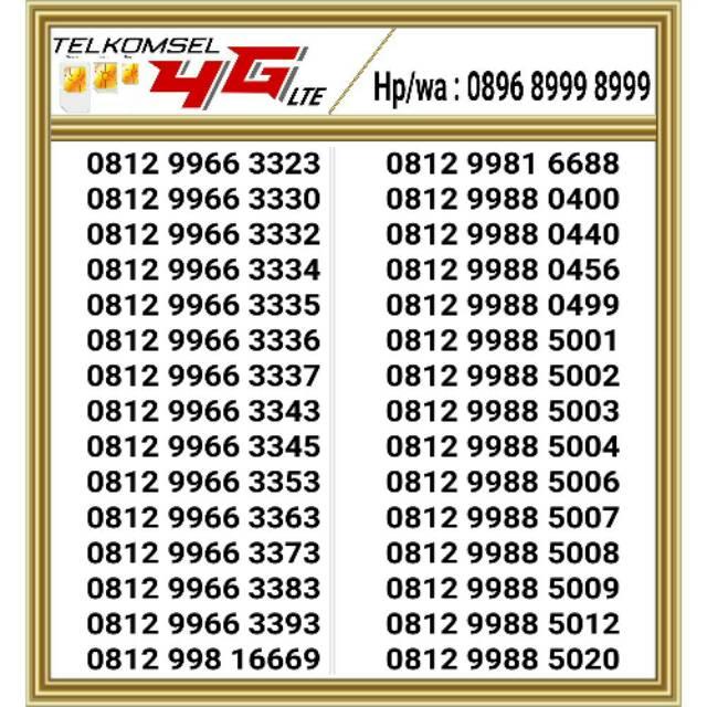 Nomor cantik simpati 4G Hoki 0812 ...