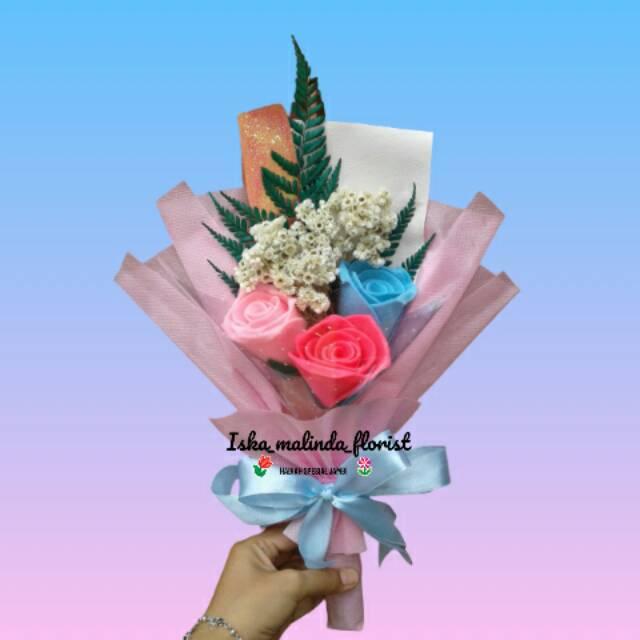 Buket Bunga Edelweis Dan Mawar Cantik Jambi Shopee Indonesia