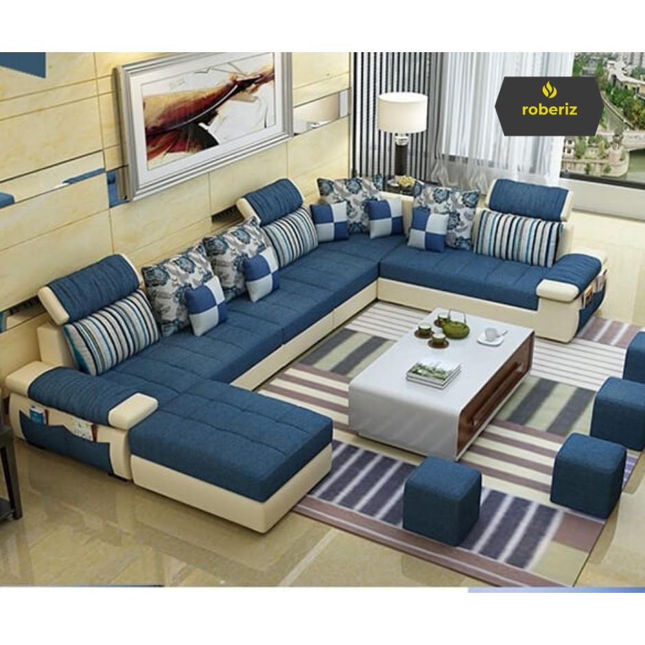 U01 Sofa Minimalis Modern Ruang Tamu Shopee Indonesia Harga sofa ruang keluarga