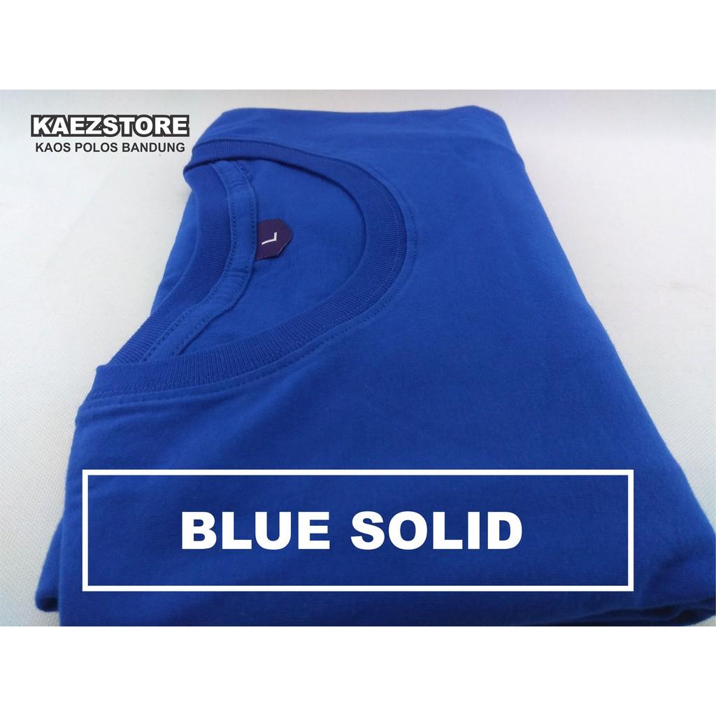 Baju Kaos Polos Oblong Lengan Pendek Bandung Navy Misty Pria Wanita Blue Biru Shopee Indonesia