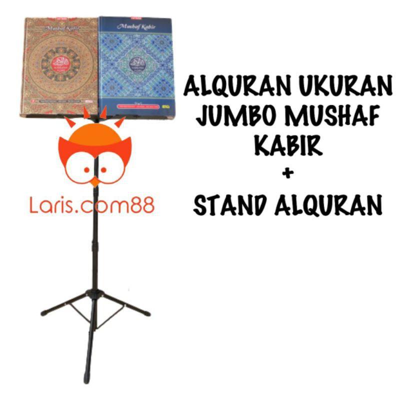 Stand Alquran + Alquran Jumbo/Alquran Lansia Mushaf Kabir