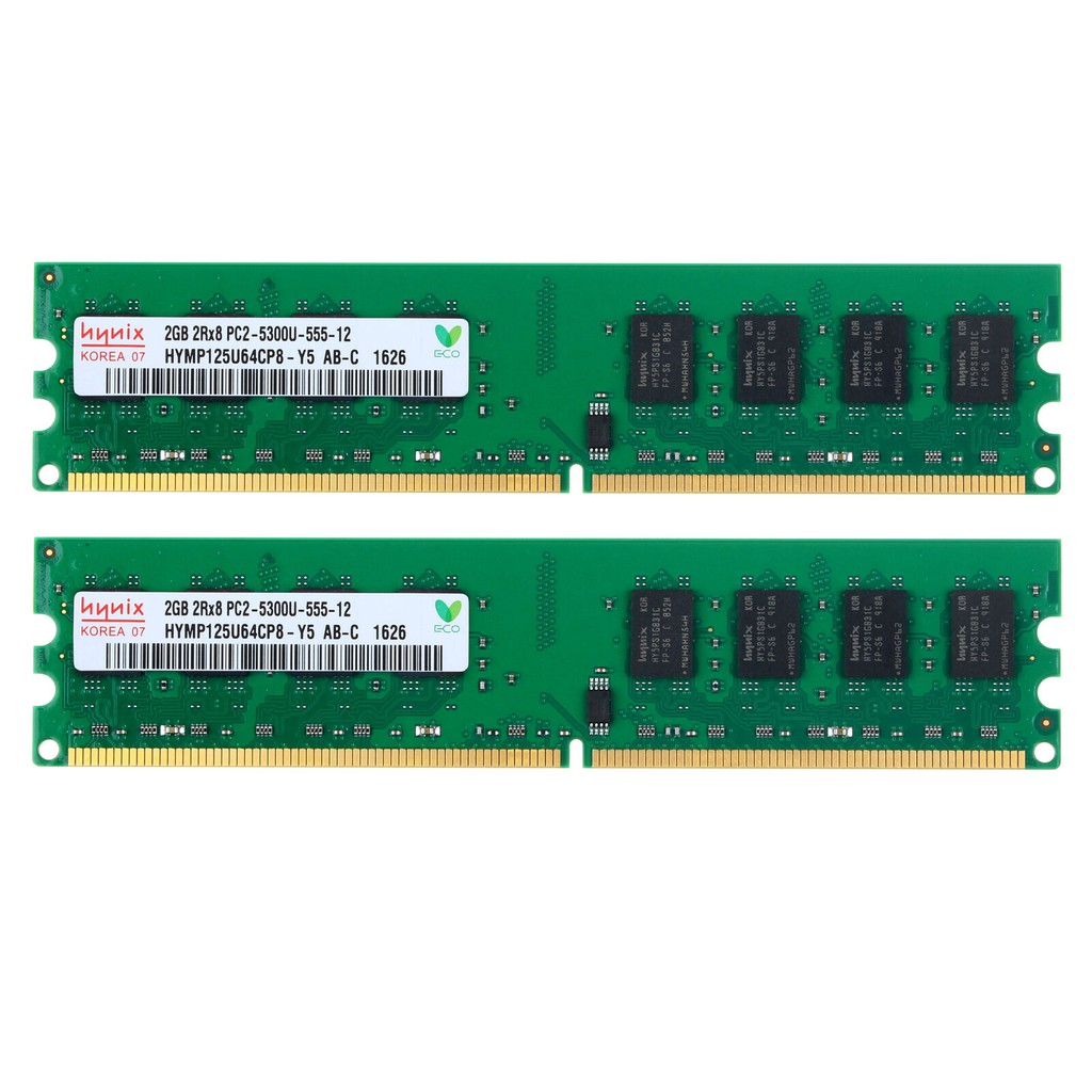 4GB 2X 2GB For Hynix DDR2 PC2-5300U 667MHz 240PIN DIMM RAM Desktop Memory Intel
