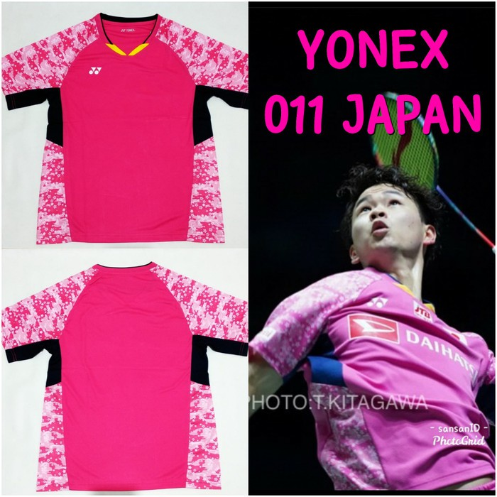 Baju kaos olahraga badminton yonex 011 timnas jepang import go
