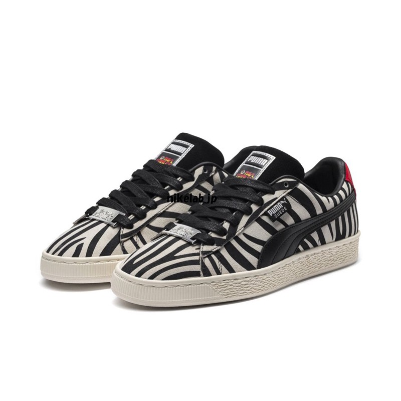 Sepatu Sneakers Bertali Desain Puma Zebra Bahan Suede untuk Pria   Wanita  3e0e624af