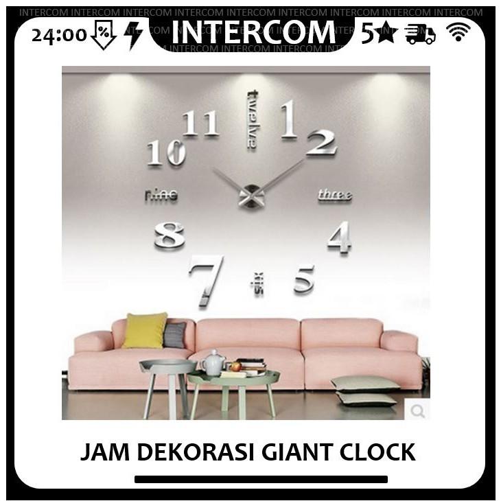 DIY Giant Wall Clock jam dinding 80-130cm Diameter - ELET00659 ... 3d806f078a