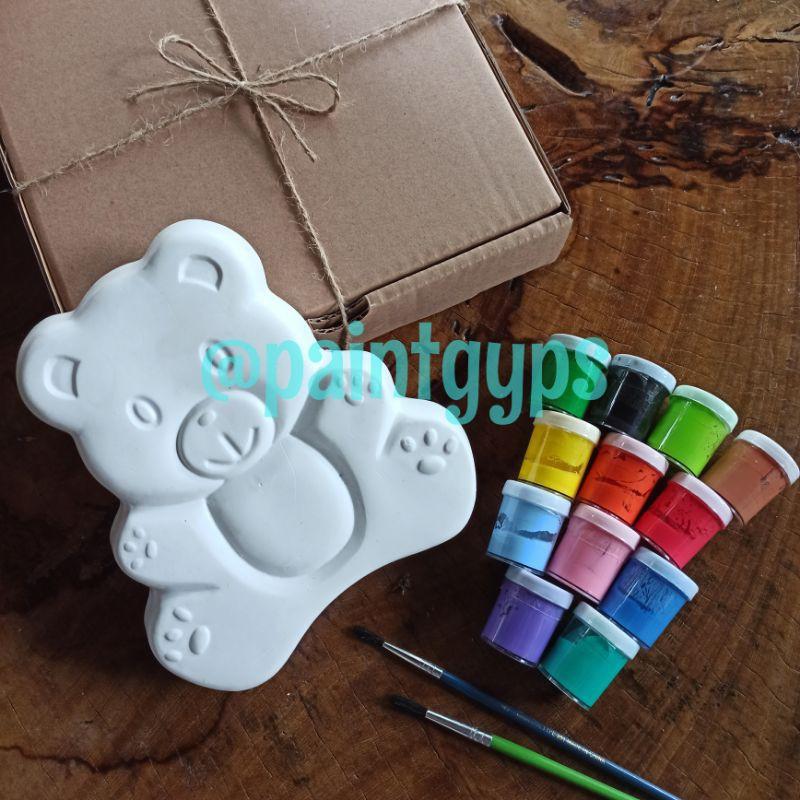 Patung Gypsum Lukis/Mainan Edukasi/Hiasan Dinding/Gypsum3D/TeddyBear