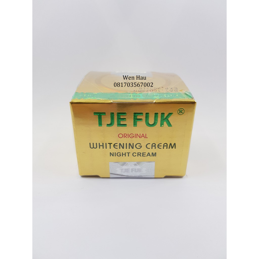 Tje Fuk Whitening Night Cream 15gr Shopee Indonesia Original