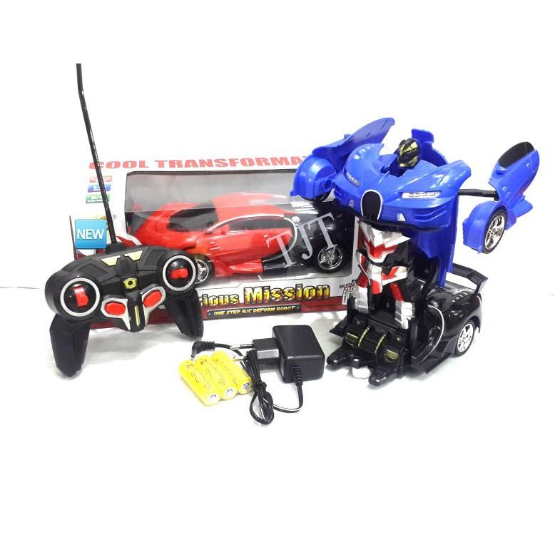 PROMO NEW MAINAN MOBIL REMOTE CONTROL BUGGATI TRANSFORMER CAR RC CHARGER/MOBIL JADI ROBOT | Shopee Indonesia