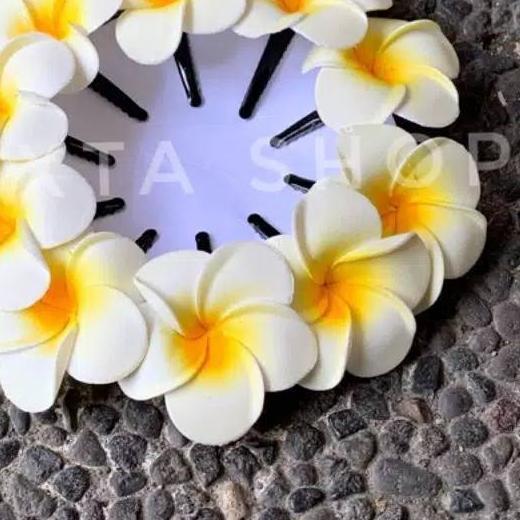 Jepit Rambut Bunga Kamboja 7 Cm Khas Adat Bali Isi 6 Pics Shopee Indonesia