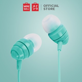 MINISO Earphone Kabel dengan Mic Earbuds in Ear Headphone Noise Cancelling Awet Headset Universal