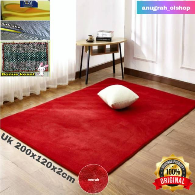 Karpet bulu matras uk 200x120x2cm Shopee Indonesia