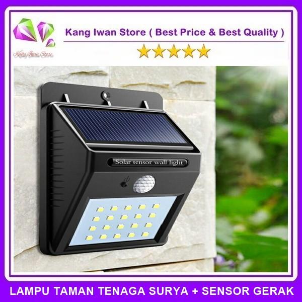 Lampu Taman Tenaga Matahari Solar Cell Dengan Sensor Gerak Shopee Indonesia