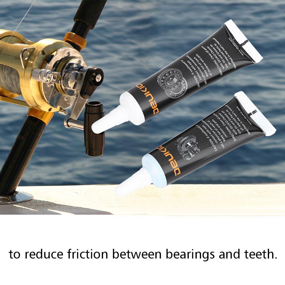 Fishing Rod Reel Wheel Bearing 15ml Lubricating Oil + 10g Grease Kit Tool  Set