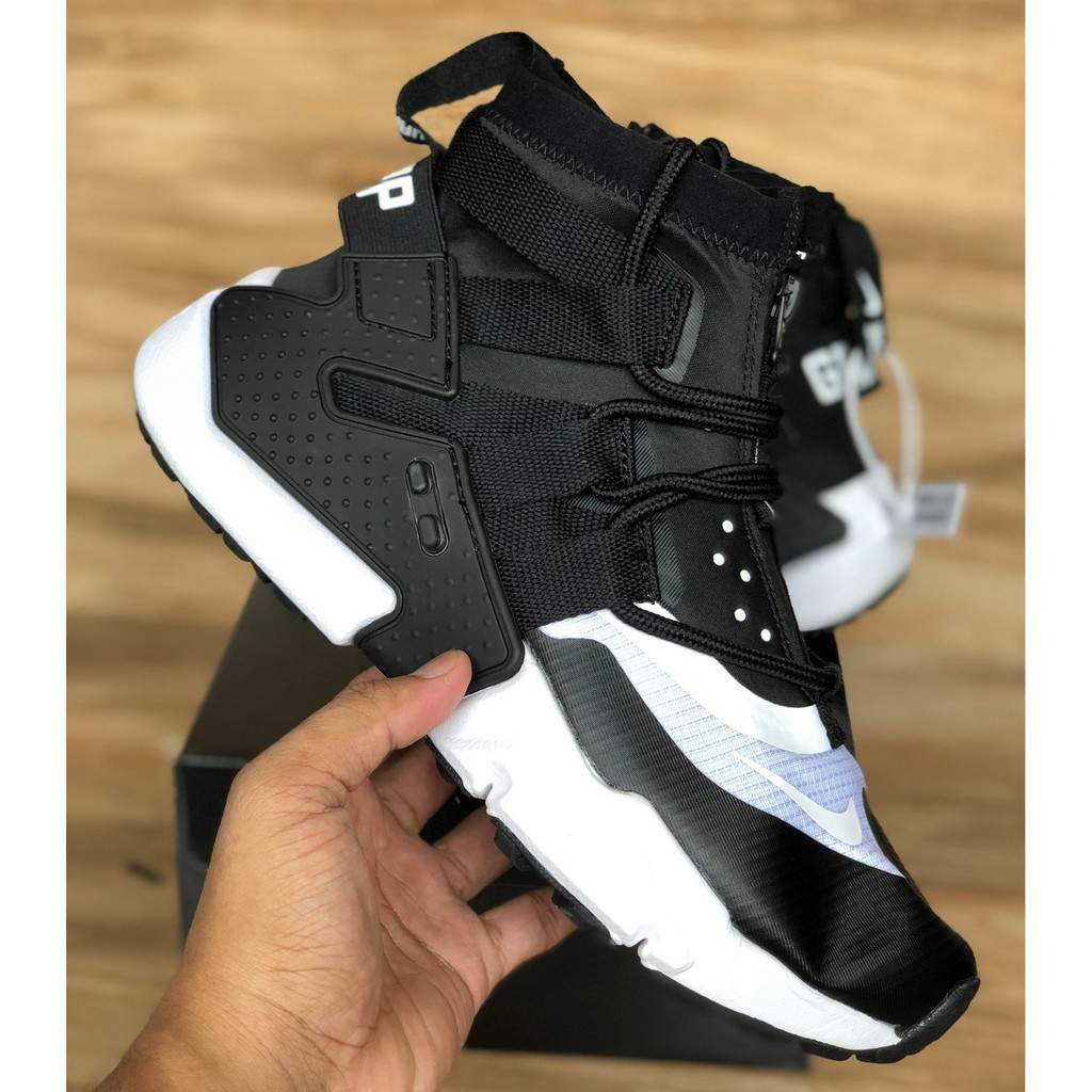 Sepatu Nike Air Huarache Ultra Grip Black White Men Premium