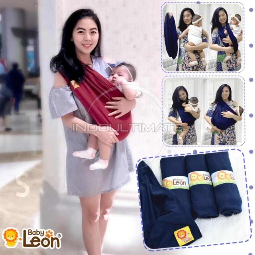 BABY LEON GENDONGAN Bayi Kaos/Geos/selendang Bayi Praktis BY 44 GB Polos Ukuran M - Dark Grey | Shopee Indonesia