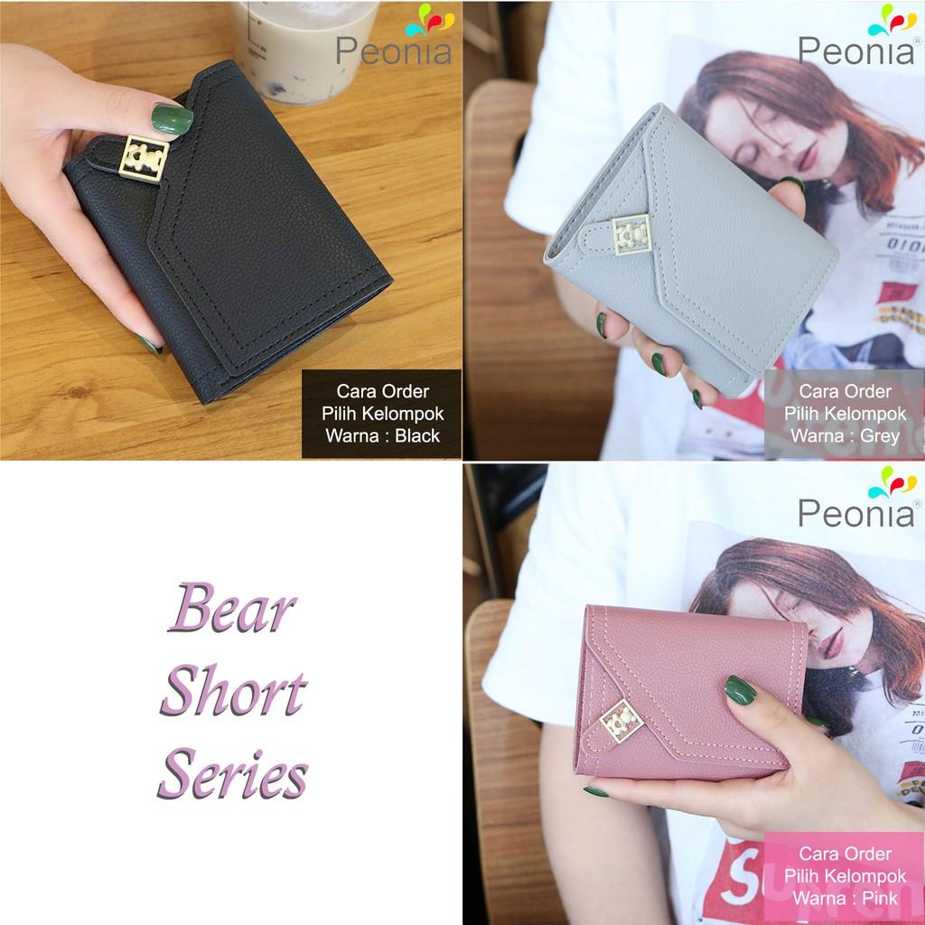 Peonia - Dompet Wanita Kecil Lipat Import - Korea Fashion Style - Bear Short   Shopee Indonesia