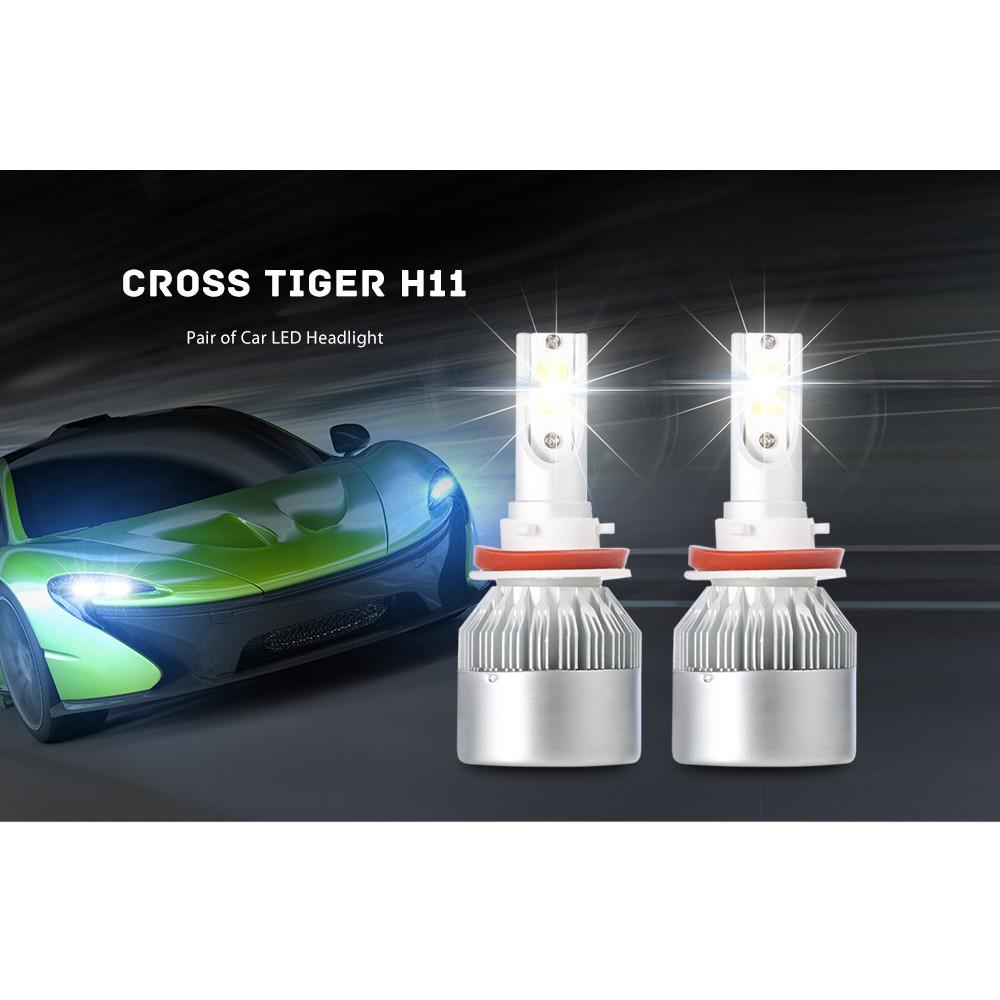 H4 Sepasang Lampu Kepala Led Mobil Tiger Silang Shopee Indonesia Kolong Remote Dekorasi Dashboard 16 Warna Drl Rgb