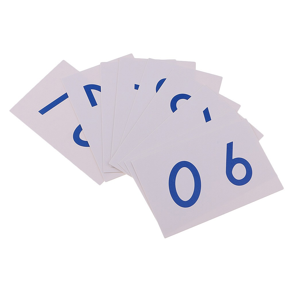 Montessori Mathematics 1-9000 Number Cards Paper for Math Count Early Learn