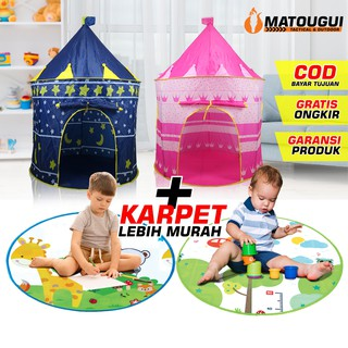 Tenda Anak Model Castle Kado Mainan Kastil AN8109