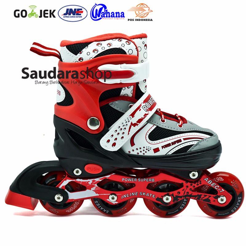 Power King Sepatu Roda Inline Skate Merah Sepaturoda Inlineskate ... 386fc7c360