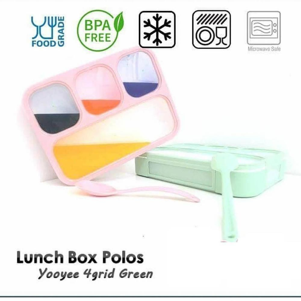 Kotak Makan Anti Campur Yooyee Tumpah New 578 Lunch Box Bento Bekal Bocor Shopee Indonesia