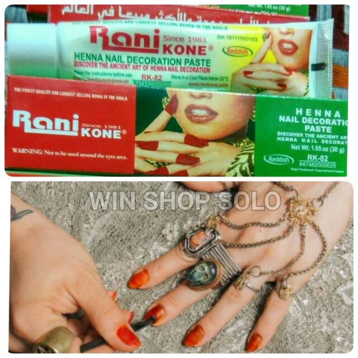 Promo Besar 30gr Rani Kone Merah Henna Cat Kuku Halal Hyenna