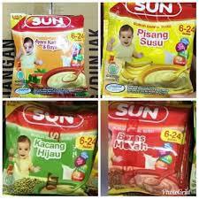 Sun Bubur Sereal Sachet 20 Gram Mpasi Bayi Shopee Indonesia