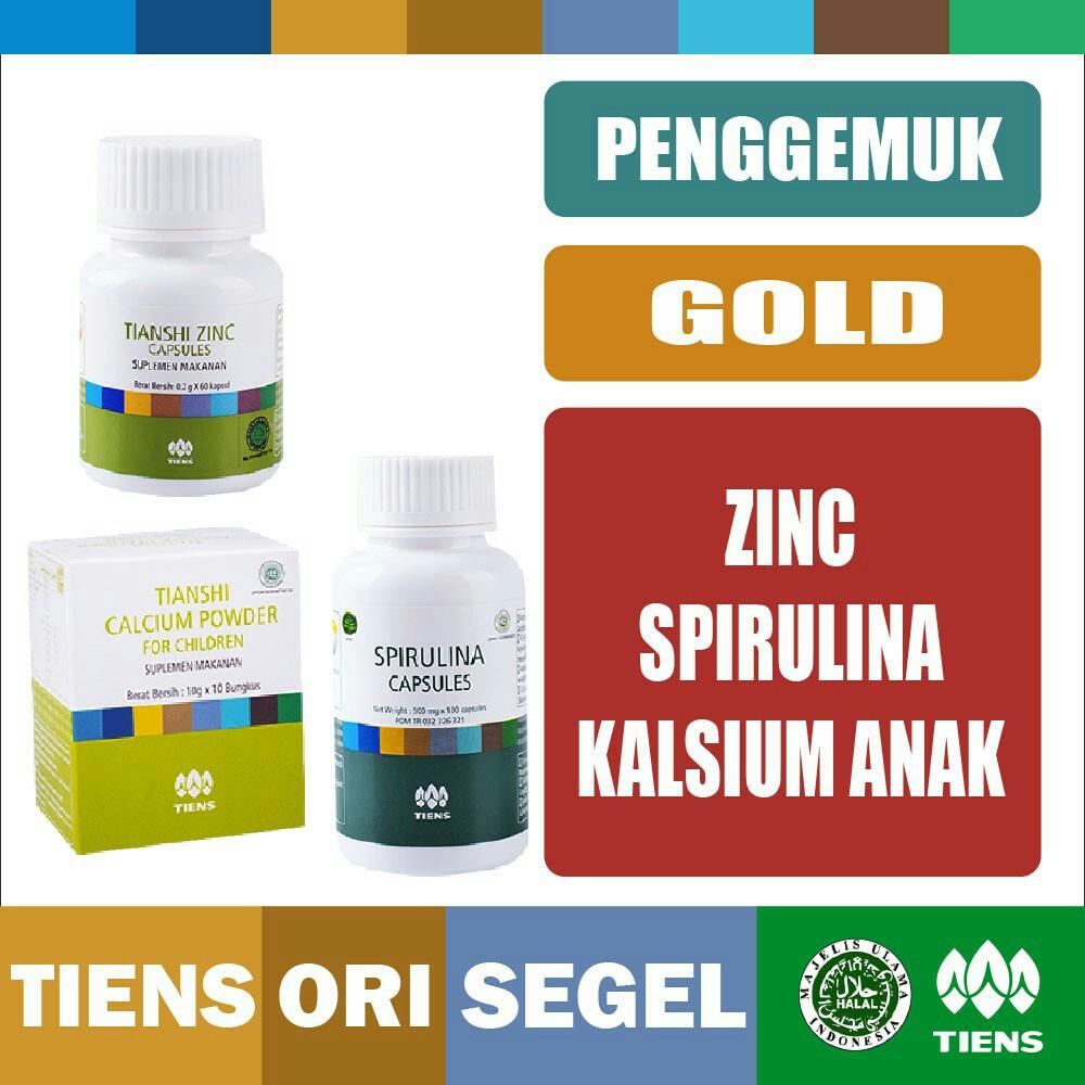Tiens / Tianshi PAKET PENINGGI BADAN GOLD | Zinc + Calcium Nhcp Kalsium Dewasa + Spirulina | Shopee Indonesia