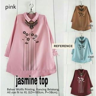 05-00 Baju Atasan Blouse Tunik Wanita Baju Muslim Blus Muslim Jasmine Top  3068fd973d