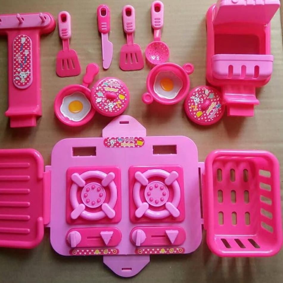 Zkz Mainan Anak Perempuan My Lovely Kitchen Mainan Masak Masakan Anak Shopee Indonesia