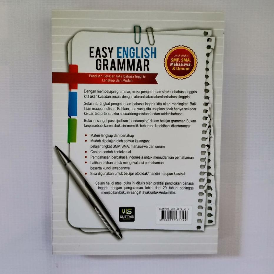 Tops Buku Bahasa Inggris Easy English Grammar Shopee Indonesia