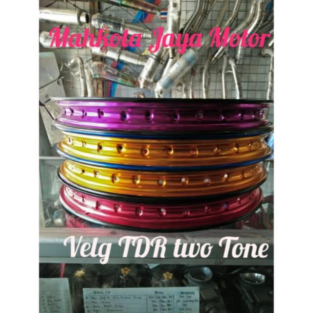 Velg TDR Two Tone W Shape Ring 17 Untuk Harga 1 Velg