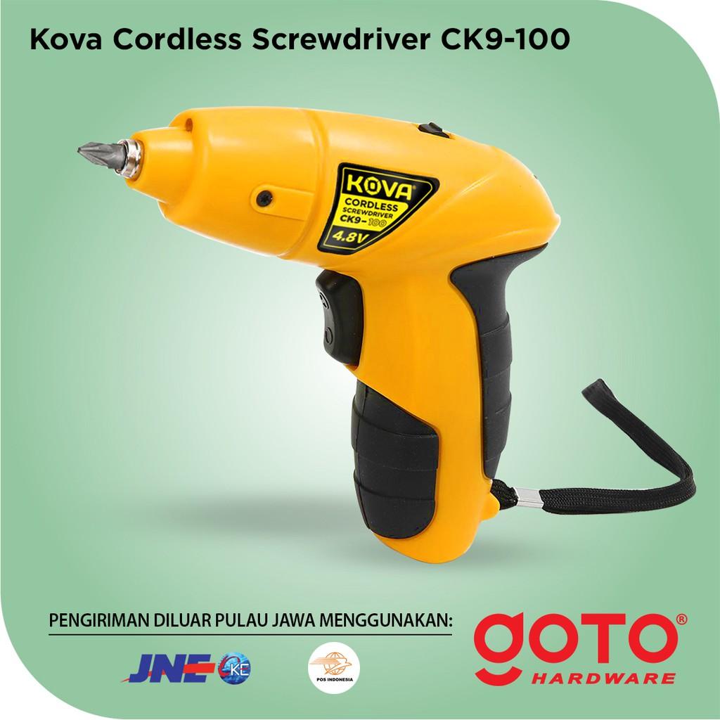 Kova Ck9 100 Screw Driver Cordless Drill Mesin Obeng Bor Shopee Indonesia