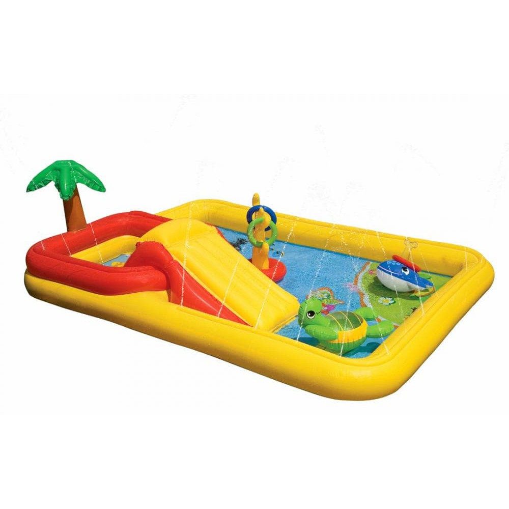 Ocean Play Center 254m X 196m 79cm Intex 57454 Kolam Renang Swim See Through Round Pool 57489 Blue
