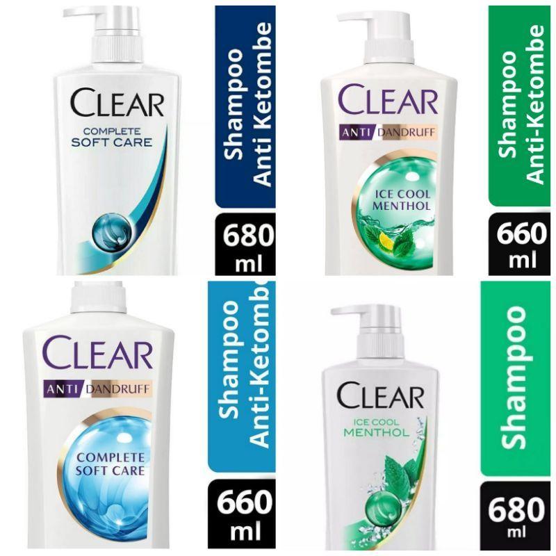 Clear Shampo Ice Cool Menthol Anti Ketombe 660 ml / 660ml