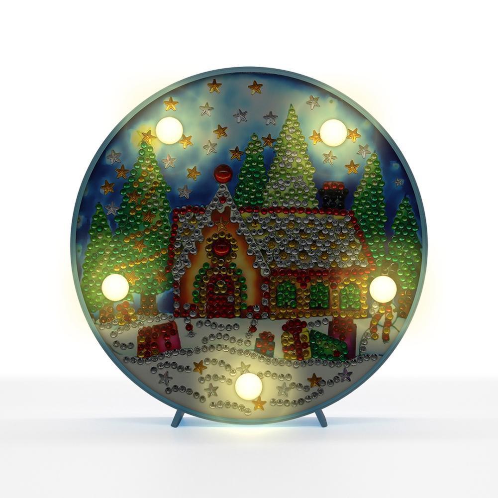 DIY Lukisan Diamond 5D Dengan Gambar Pohon Natal Dan Hiasan Berlian Buatan