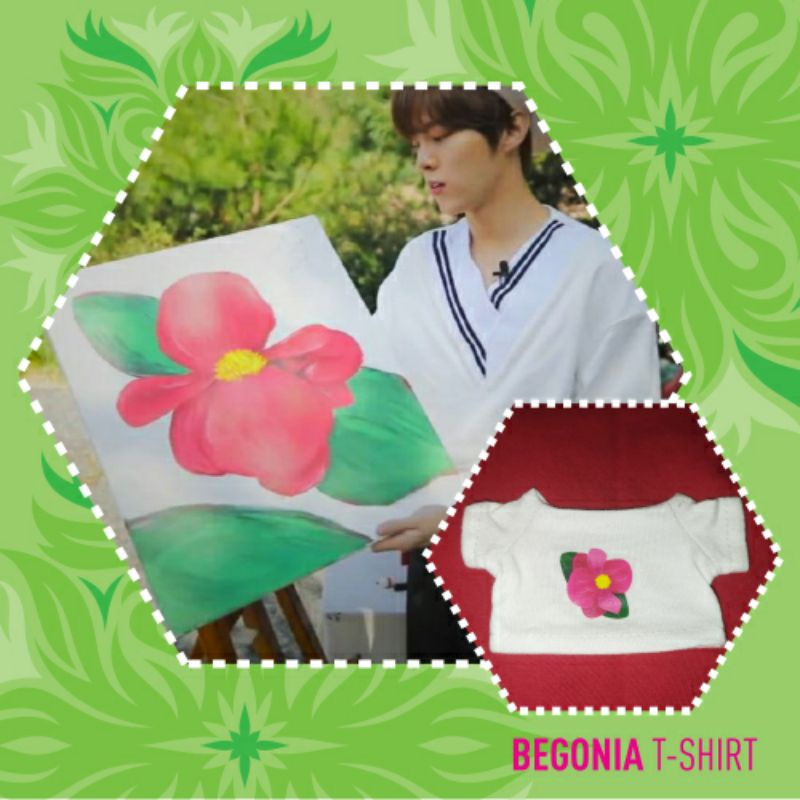 [PO] Custom Sablon Kaos BEGONIA T-shirt doll Kpop15cm 20cm
