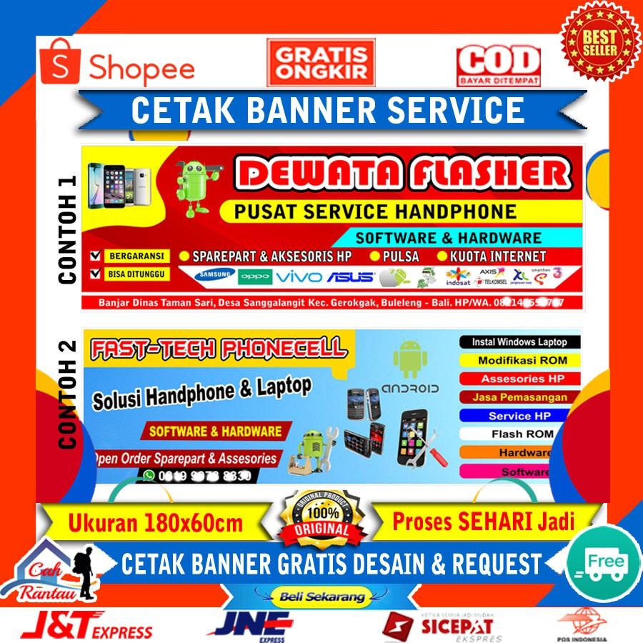 Cetak Spanduk Servis Hp Banner Konter Murah Plang Promosi Usaha Service Servis Handphone Komputer Shopee Indonesia