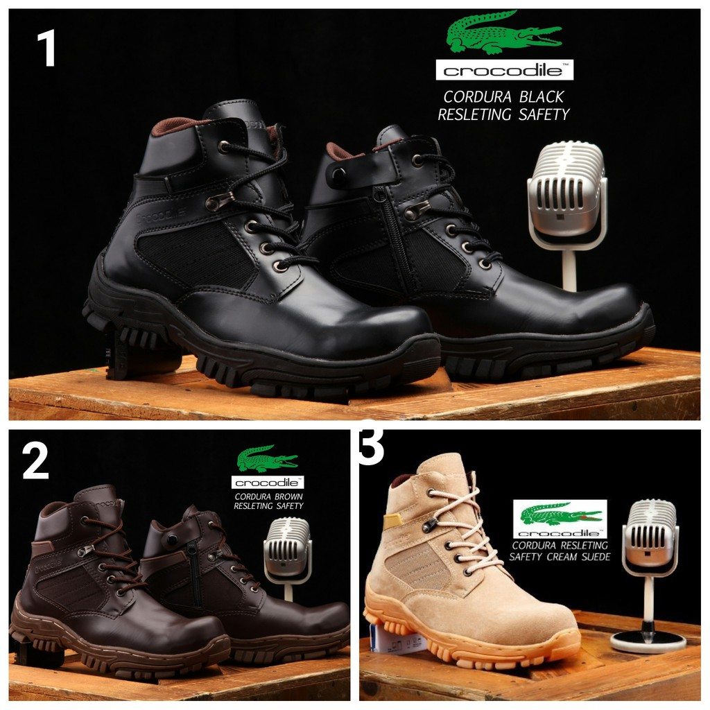 Diskon Gede Gedean Sepatu Boots Pria Nike Travis Safety California Tracking Ujung Besi Hiking Proyek Shopee Indonesia