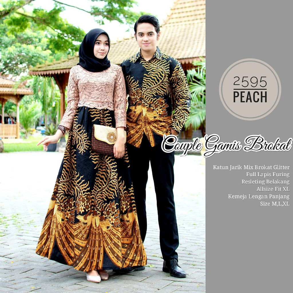 Zola_Batik Batik Couple Gamis Brokat 9