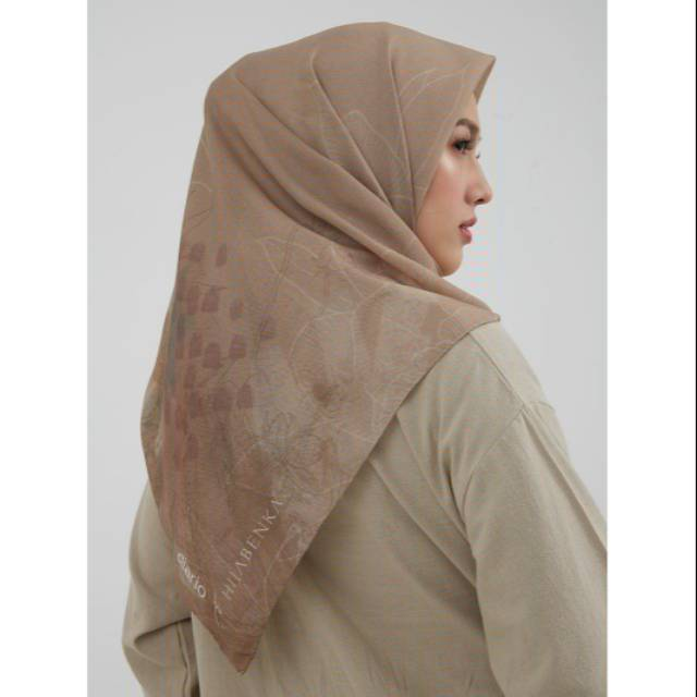 Diario X Hijabenka Waterlily Scarf In Olivesheen Shopee Indonesia