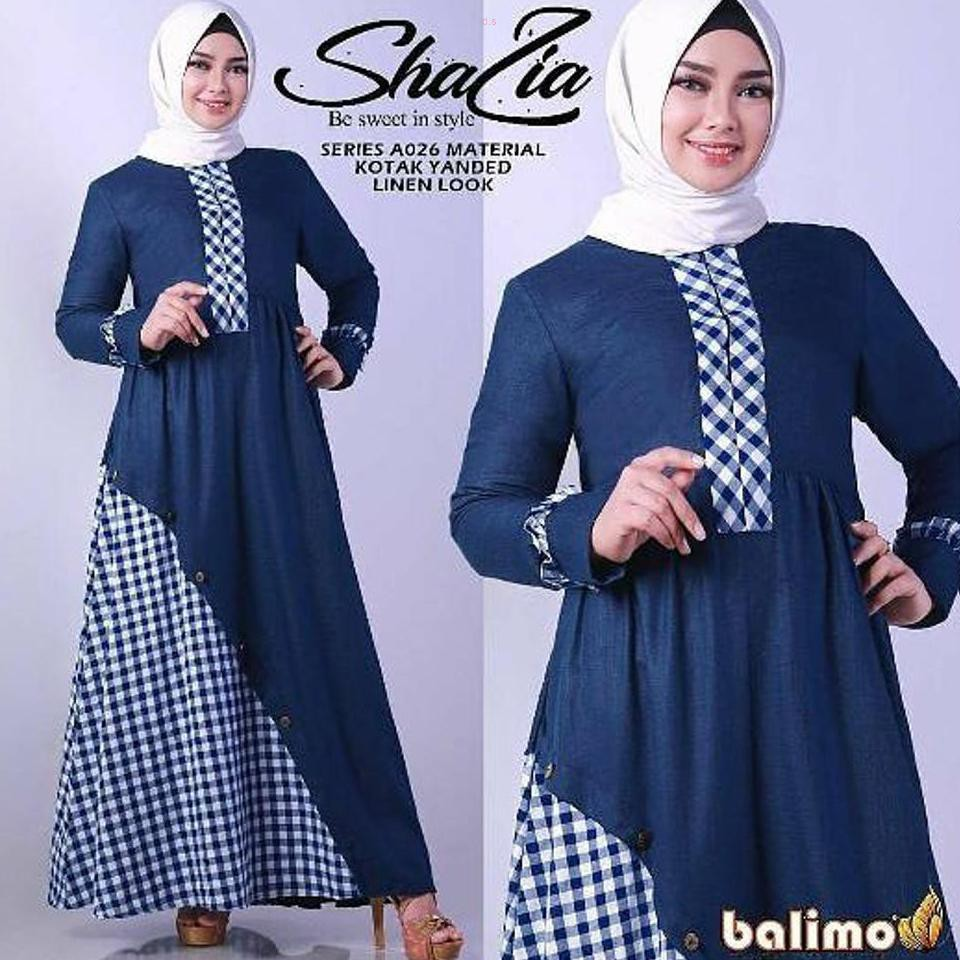 baju gamis terbaru Shalia Maxi Dress gamis modern model baju pesta